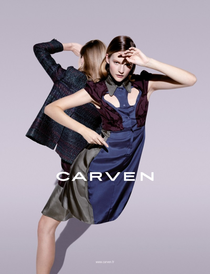 CarvenSpringCampaign3 Sara Blomqvist Shows Two Sides for Carvens Spring 2013 Campaign by Viviane Sassen