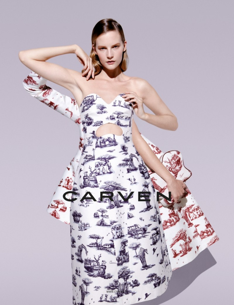 CarvenSpringCampaign5 Sara Blomqvist Shows Two Sides for Carvens Spring 2013 Campaign by Viviane Sassen