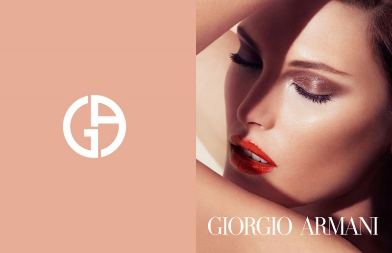 CatherineMcNeilArmani1 800x517 Catherine McNeil Stuns in Giorgio Armani Beauty Spring 2013 Campaign by Txema Yeste
