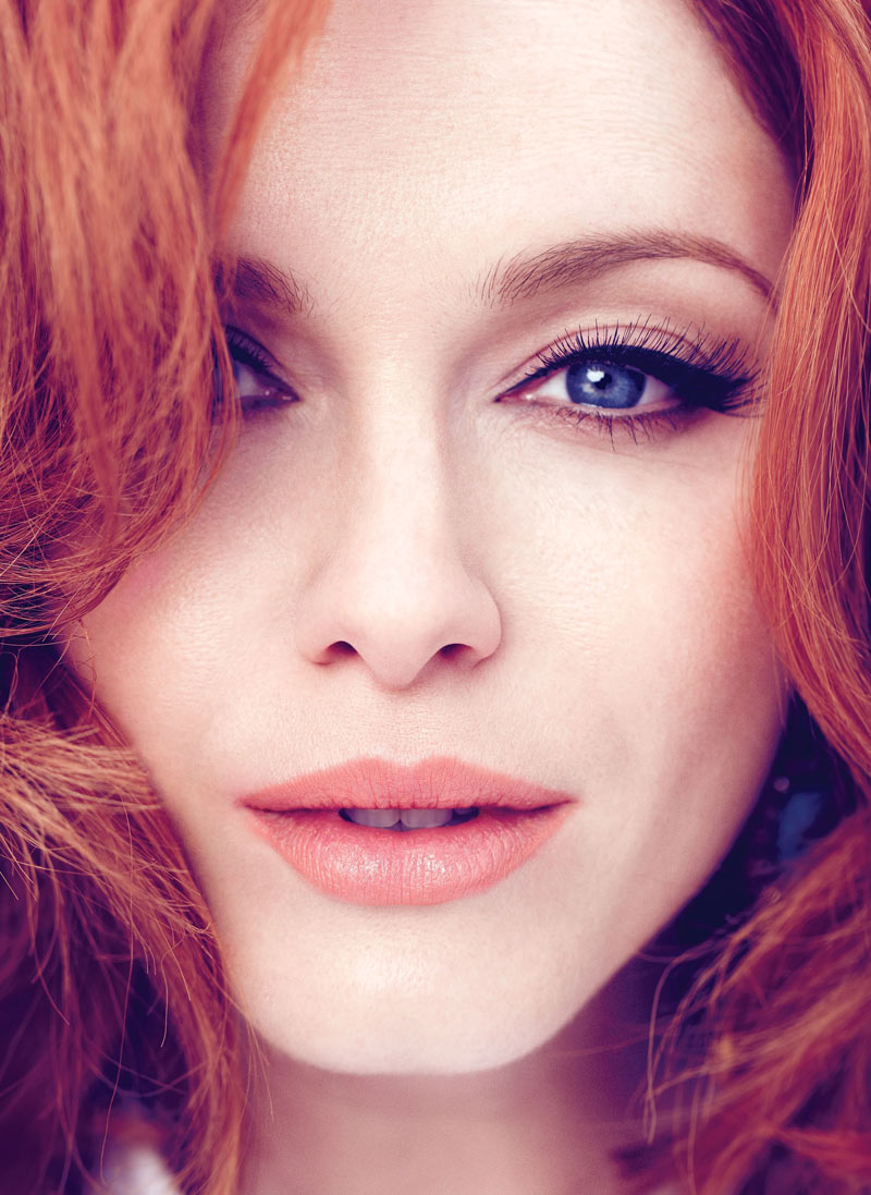 ChristinaHendricksFlare1 Christina Hendricks Stars in Flares May 2013 Cover Story by Max Abadian