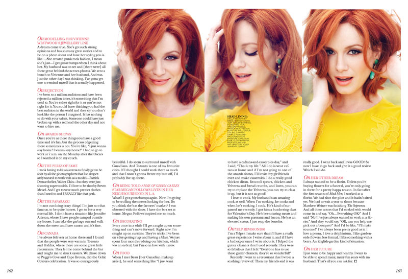 ChristinaHendricksFlare5 Christina Hendricks Stars in Flares May 2013 Cover Story by Max Abadian
