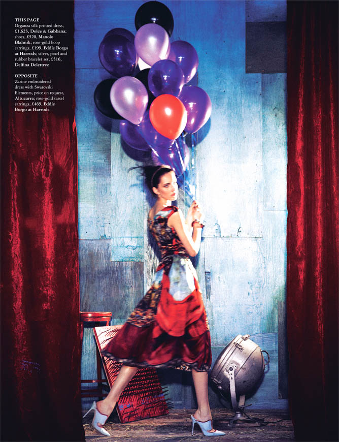 Circus twist5 Iris Egbers Is Center Stage for Grazia UK April 2013 by Takahiro Ogawa