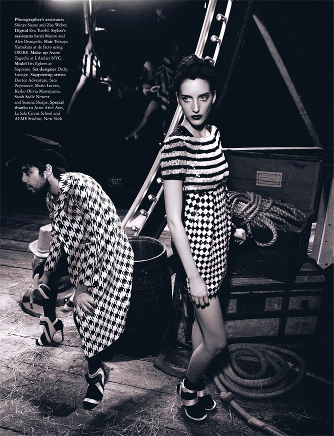 Circus twist7 Iris Egbers Is Center Stage for Grazia UK April 2013 by Takahiro Ogawa