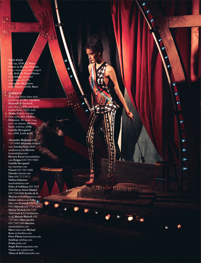 Circus twist8 Iris Egbers Is Center Stage for Grazia UK April 2013 by Takahiro Ogawa
