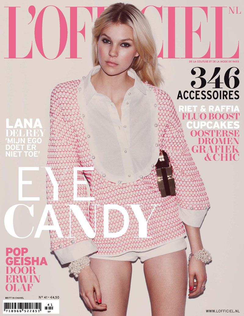 Cover41 NL 1 FGR Britt Maren Seduces for LOfficiel Netherlands April/May 2013 Cover Shoot by Guy Aroch