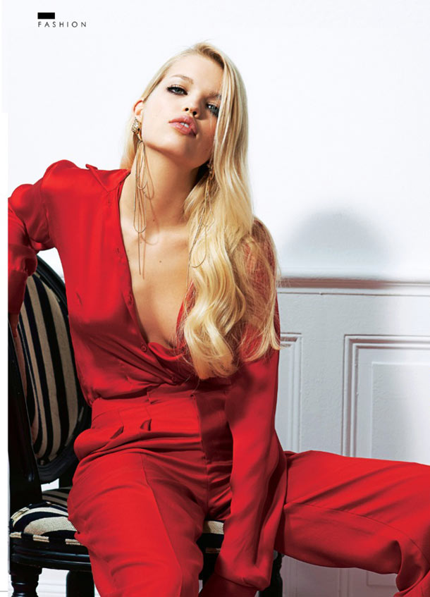 DaphneSundayStyle4 Daphne Groeneveld Enchants for Eric Guillemain in The Sunday Times Style