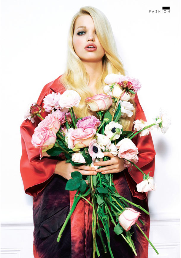 DaphneSundayStyle7 Daphne Groeneveld Enchants for Eric Guillemain in The Sunday Times Style