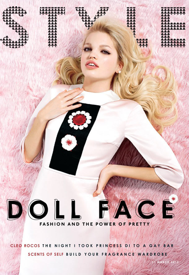 DaphneSundayStyle9 Daphne Groeneveld Enchants for Eric Guillemain in The Sunday Times Style