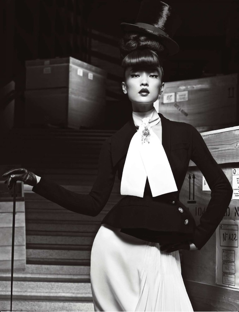 DuJuanNumeroChina10 Du Juan Models Dior for Yin Chao in Numéro China April 2013