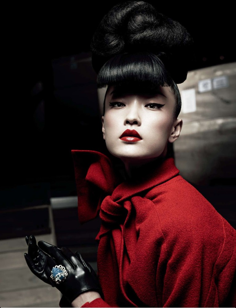 DuJuanNumeroChina11 Du Juan Models Dior for Yin Chao in Numéro China April 2013