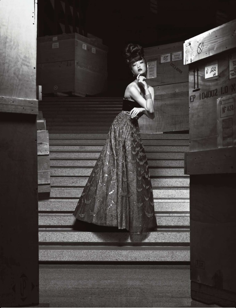 DuJuanNumeroChina12 Du Juan Models Dior for Yin Chao in Numéro China April 2013
