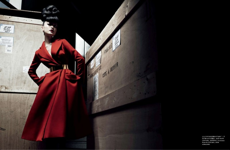 DuJuanNumeroChina3 800x521 Du Juan Models Dior for Yin Chao in Numéro China April 2013