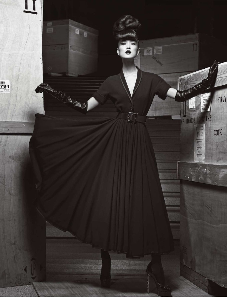 DuJuanNumeroChina7 Du Juan Models Dior for Yin Chao in Numéro China April 2013