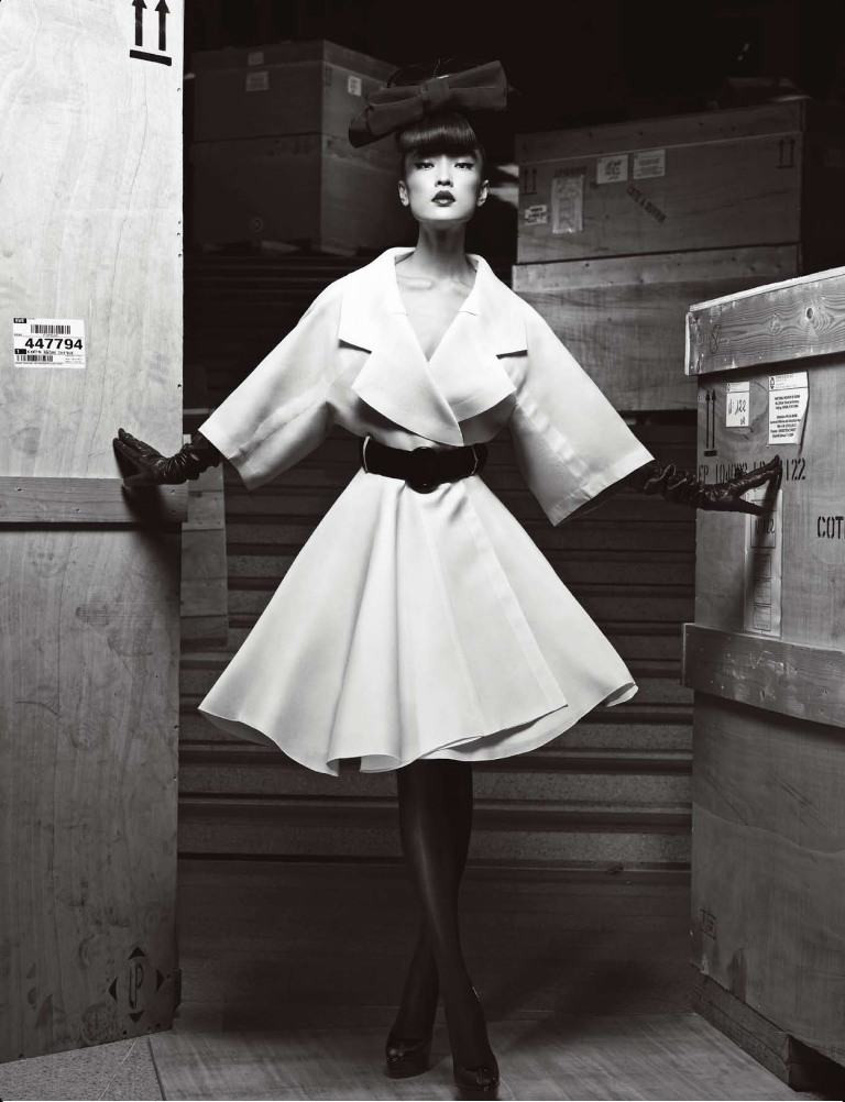 Du Juan Models Dior for Yin Chao in Numéro China April 2013