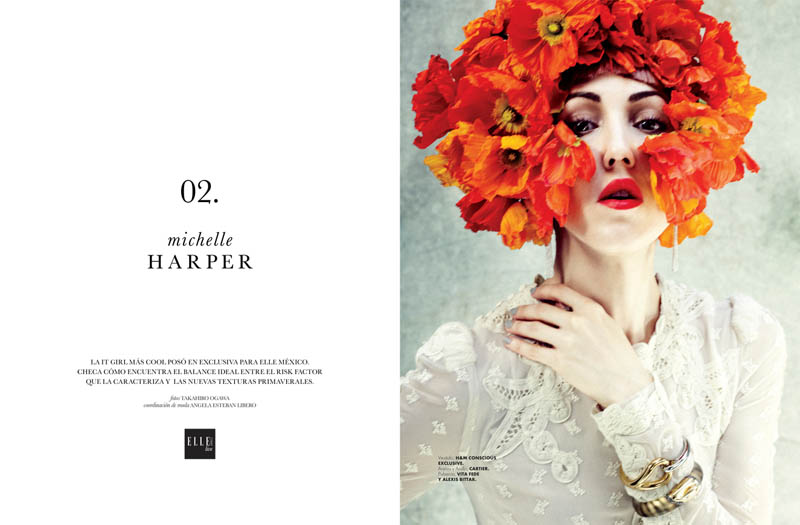 ELLE GREEN Michelle Harper 1 Michelle Harper Makes a Splash in ELLE Mexicos Green Issue by Takahiro Ogawa