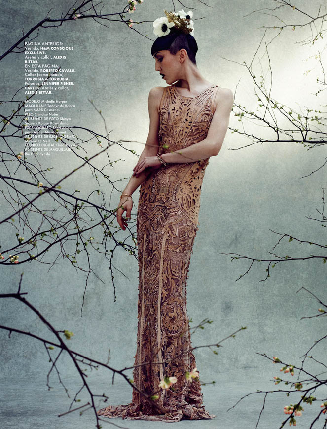 ELLE GREEN Michelle Harper 9 Michelle Harper Makes a Splash in ELLE Mexicos Green Issue by Takahiro Ogawa