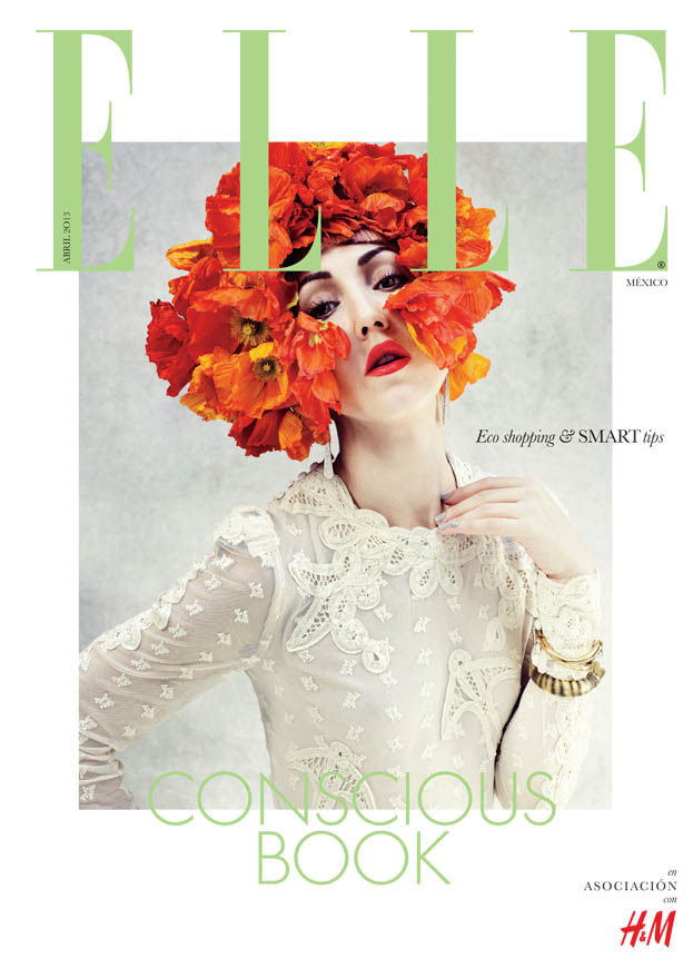 ELLE GREEN cover Michelle Harper Makes a Splash in ELLE Mexicos Green Issue by Takahiro Ogawa