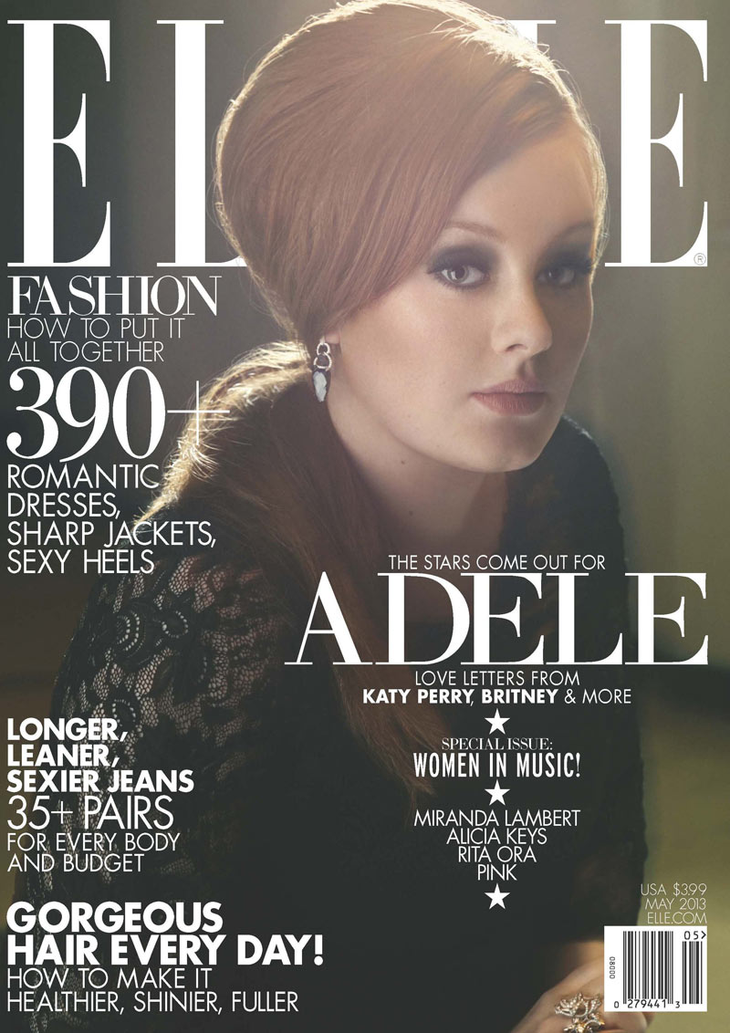 ELLE May 13 Adele Cover Adele Graces Elle US May 2013 Cover in Alberta Ferretti