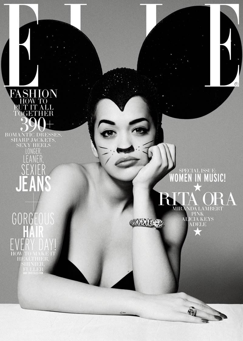ELLE WIM May Rita Ora subcover 2 Rita Ora Gets Glam for Elle US May 2013 by Thomas Whiteside