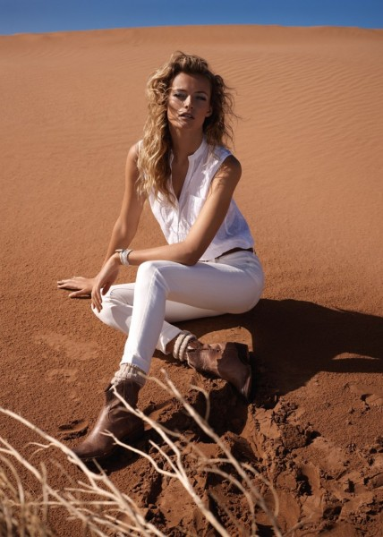 Edita Vilkeviciute Has a Stylish Summer for Mango's New Catalogue