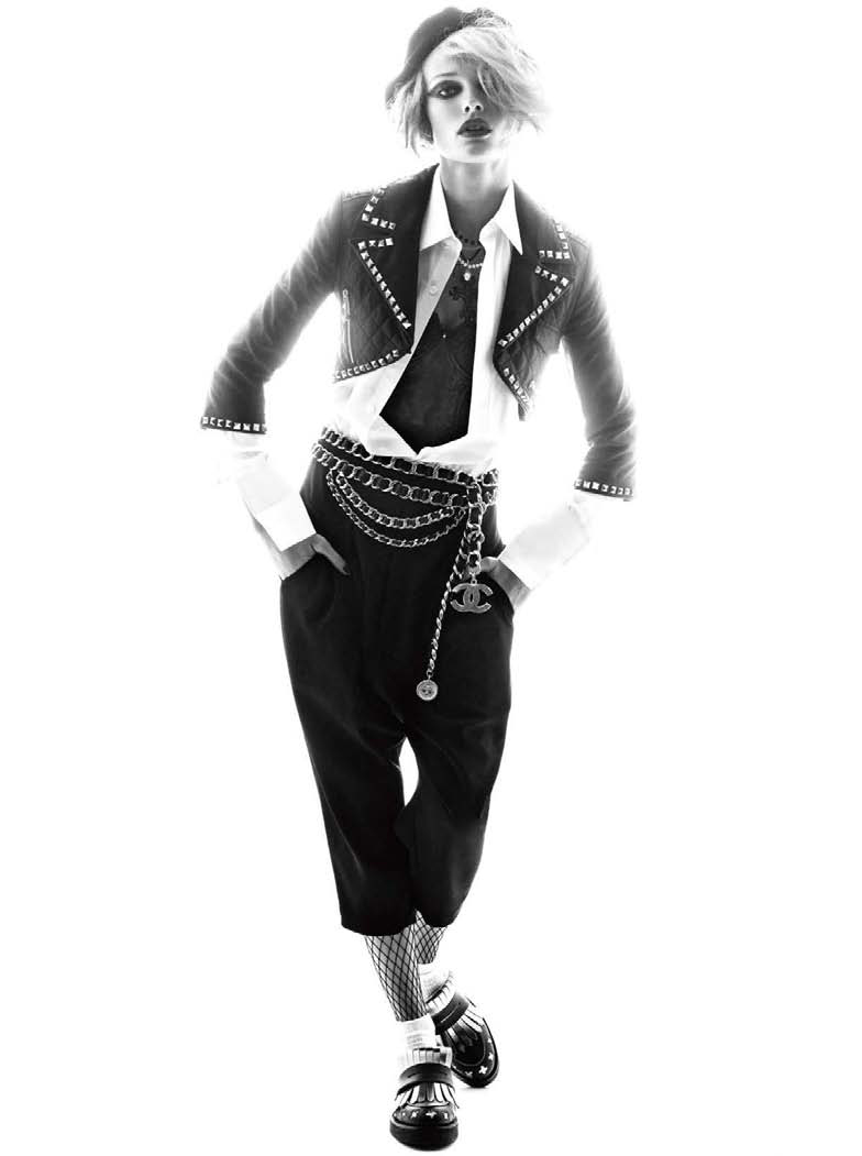 Edita Vilkeviciute Rocks 80s Style for Vogue Germany May 2013 by Alexi Lubomirski