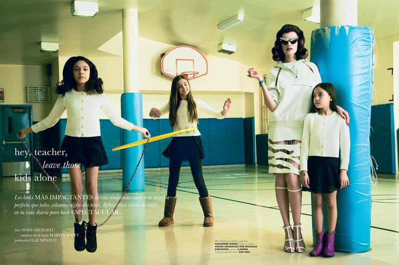 ElleMaestra1 Sarah Ruba Plays a Chic Teacher in Elle Mexicos April Issue by Yossi Michaeli