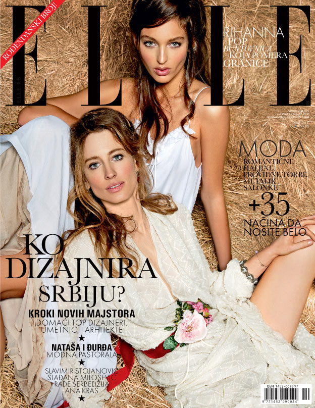 ElleSerbia13 Natasa Vojnovic and Georgina Stojiljkovic Star in Elle Serbias May 2013 Cover Shoot