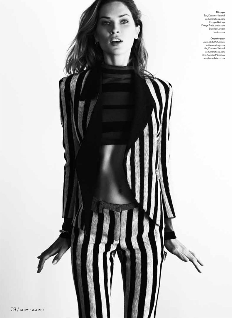 ErinWassonGlow2 Erin Wasson Poses in Glow Magazines May 2013 Cover Shoot