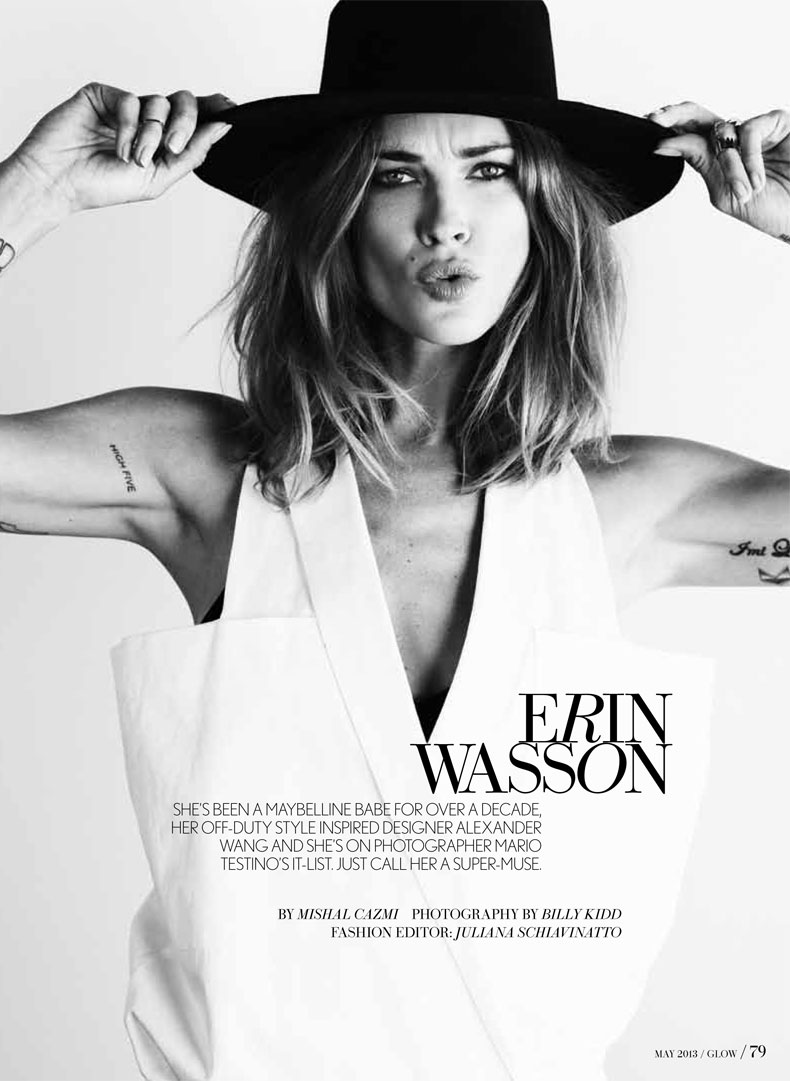 ErinWassonGlow3 Erin Wasson Poses in Glow Magazines May 2013 Cover Shoot