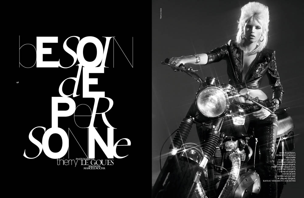 FrenchRevueBiker1 Ashley Smith and Anja Kostantinova Are Biker Chic for French Revue De Modes #22 by Thierry Le Goues