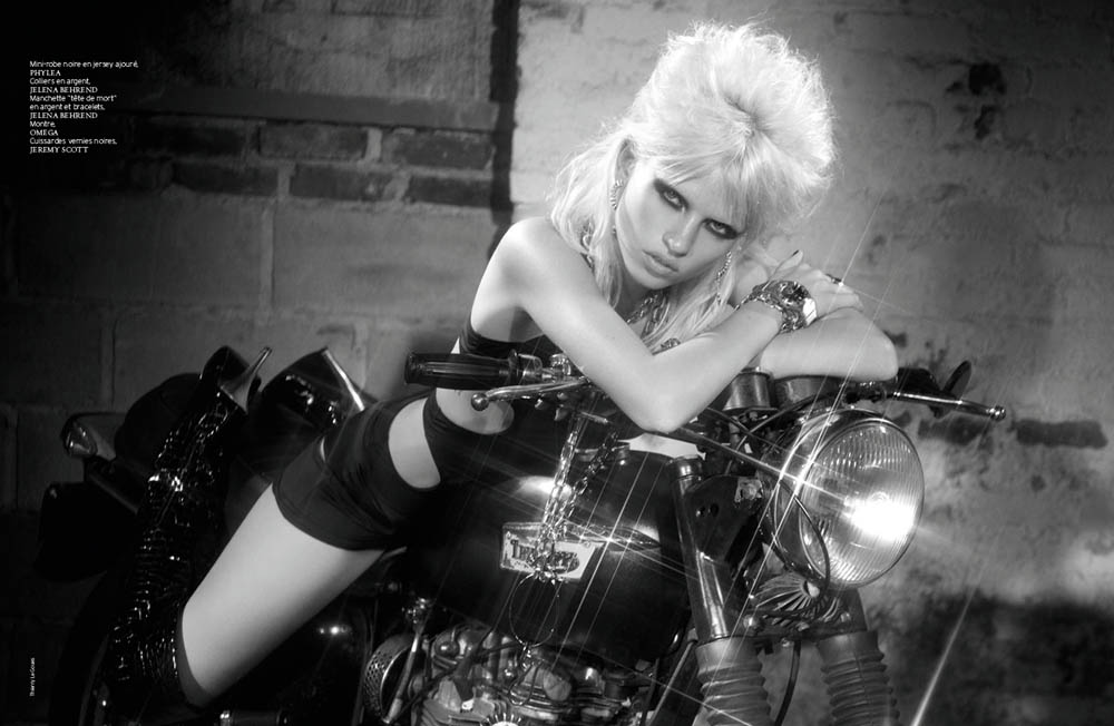 FrenchRevueBiker5 Ashley Smith and Anja Kostantinova Are Biker Chic for French Revue De Modes #22 by Thierry Le Goues