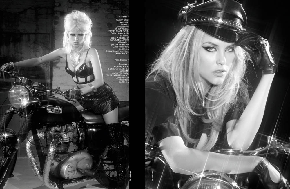 FrenchRevueBiker6 Ashley Smith and Anja Kostantinova Are Biker Chic for French Revue De Modes #22 by Thierry Le Goues