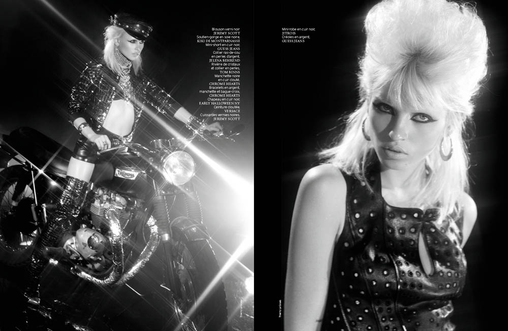 FrenchRevueBiker8 Ashley Smith and Anja Kostantinova Are Biker Chic for French Revue De Modes #22 by Thierry Le Goues