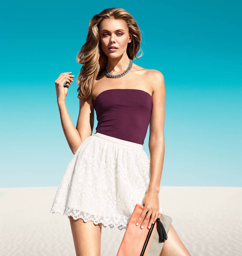 Frida Gustavsson Models H&M's Spring Looks