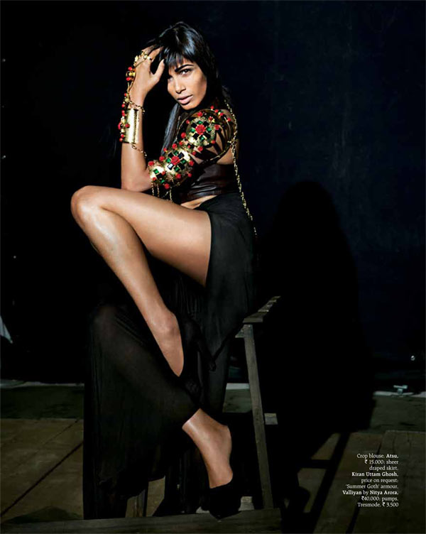 FriedaPintoGrazia3 Frieda Pinto is the Cover Star of Grazia Indias Fifth Anniversary Issue