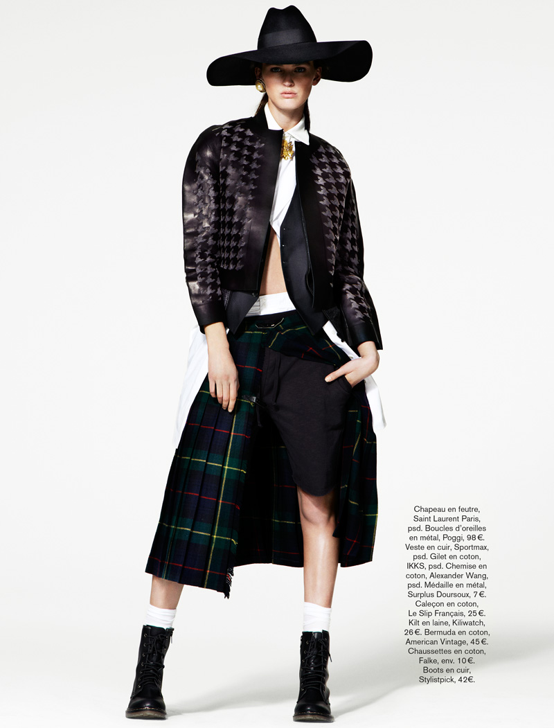 GLAMOUR FRANCE MAY13 06 Ali Stephens Dons Buffalo Boy Style for Glamour France's May Issue by Jason Kim