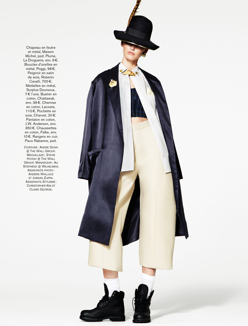 GLAMOUR FRANCE MAY13 09 Ali Stephens Dons Buffalo Boy Style for Glamour France's May Issue by Jason Kim