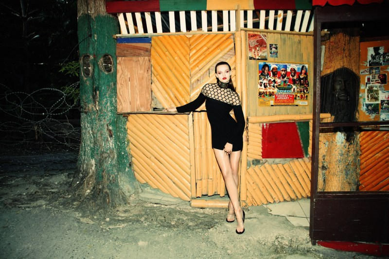 GraziaFrance1 Ali Lagarde Gets Luxe in Jamaica for Richard Bernardin in Grazia Paris
