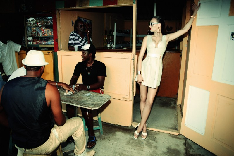 GraziaFrance7 Ali Lagarde Gets Luxe in Jamaica for Richard Bernardin in Grazia Paris