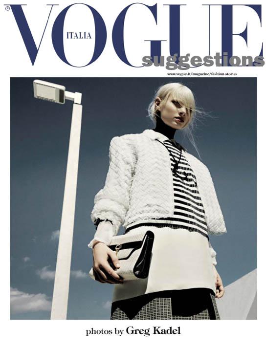 GregKadelVogueIT1 Greg Kadel Snaps Steffi Soede for Vogue Italias April Issue