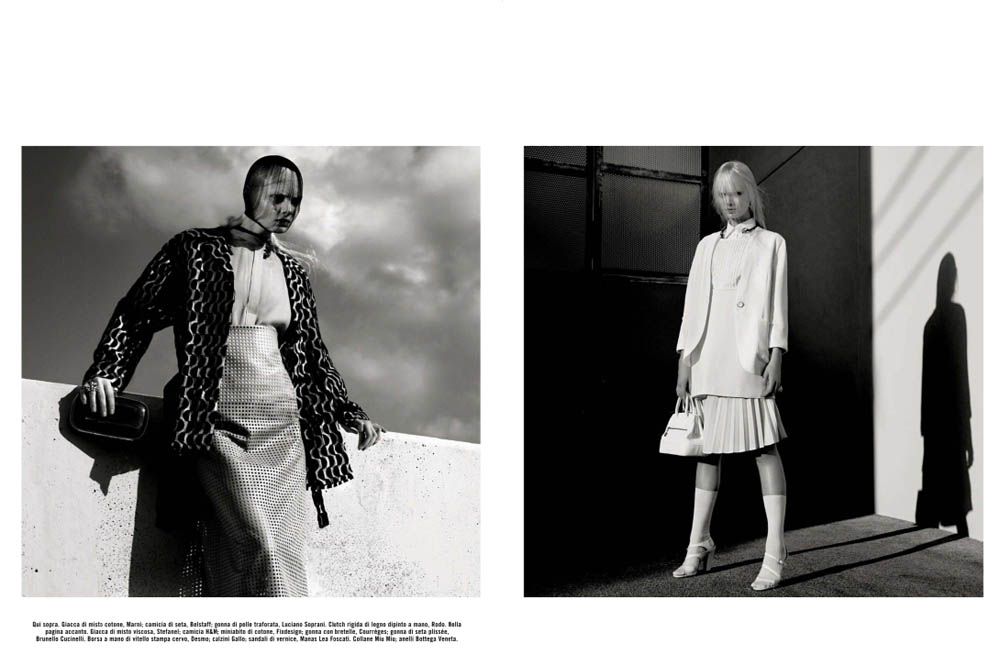 GregKadelVogueIT4 Greg Kadel Snaps Steffi Soede for Vogue Italias April Issue