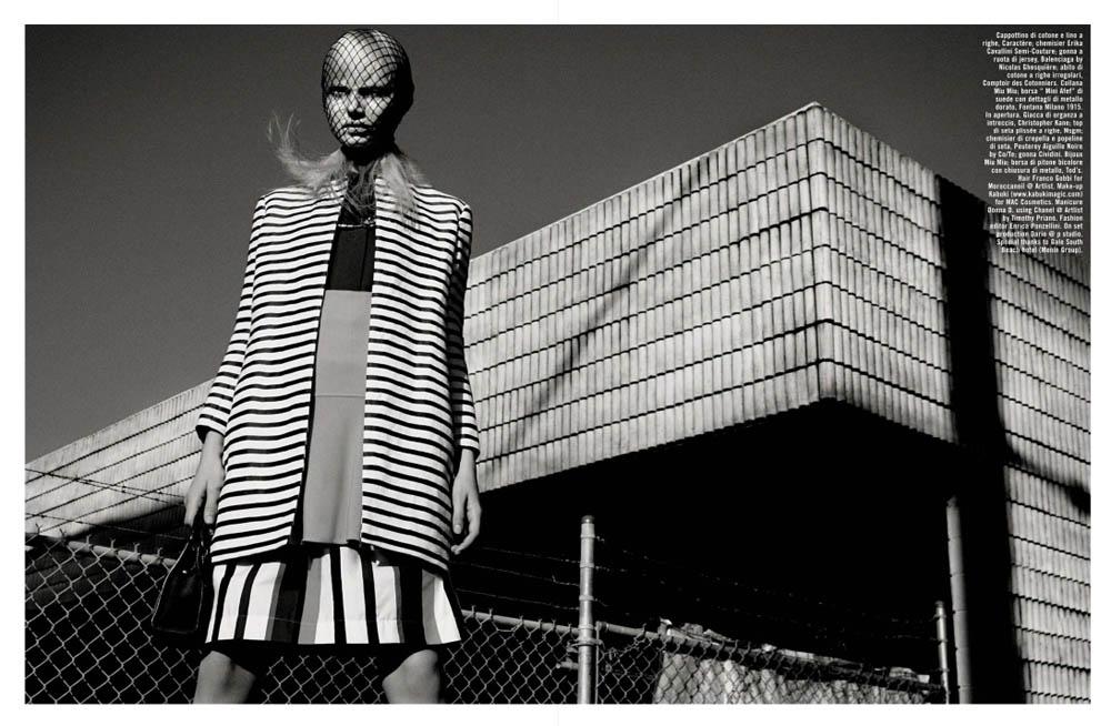 GregKadelVogueIT5 Greg Kadel Snaps Steffi Soede for Vogue Italias April Issue