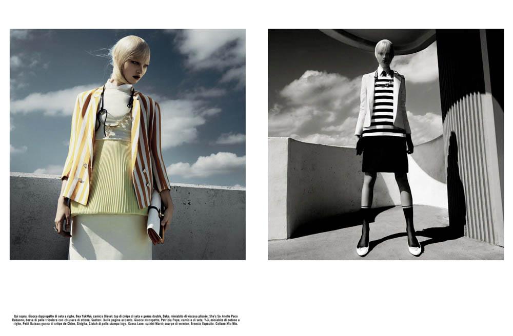 GregKadelVogueIT6 Greg Kadel Snaps Steffi Soede for Vogue Italias April Issue