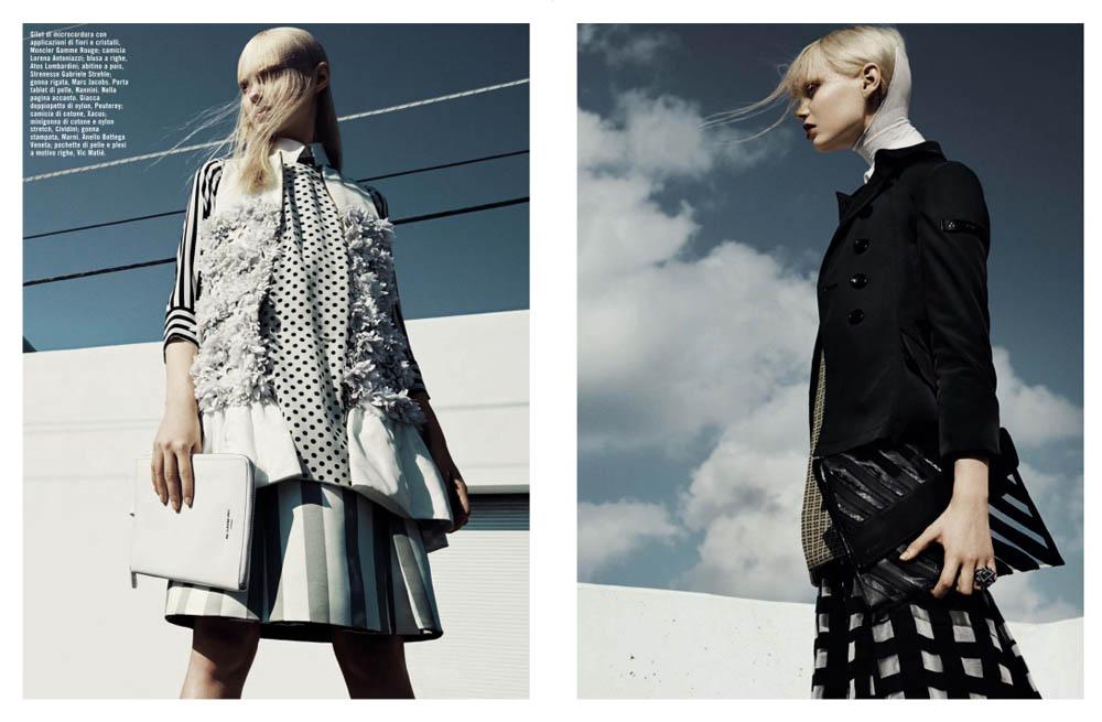 GregKadelVogueIT7 Greg Kadel Snaps Steffi Soede for Vogue Italias April Issue