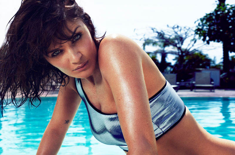 HELENA CHRISTENSEN by Xavi Gordo 06 Helena Christensen Sizzles for Xavi Gordo in Elle Spains May 2013 Cover Shoot