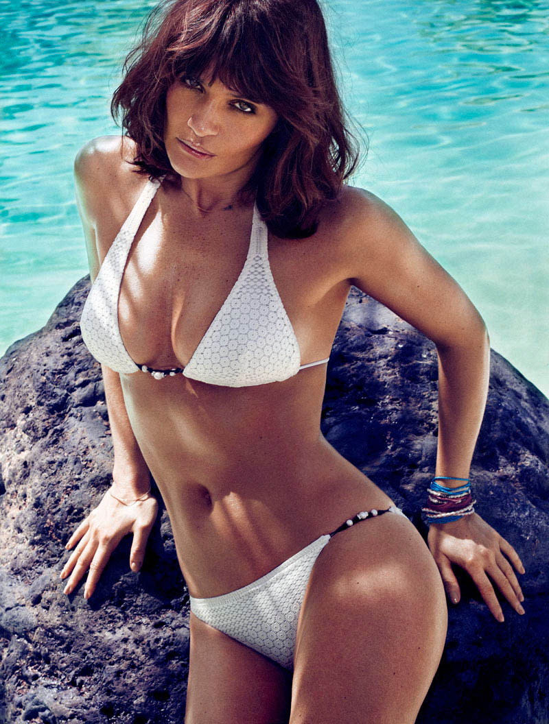 HELENA CHRISTENSEN by Xavi Gordo 10 Helena Christensen Sizzles for Xavi Gordo in Elle Spains May 2013 Cover Shoot