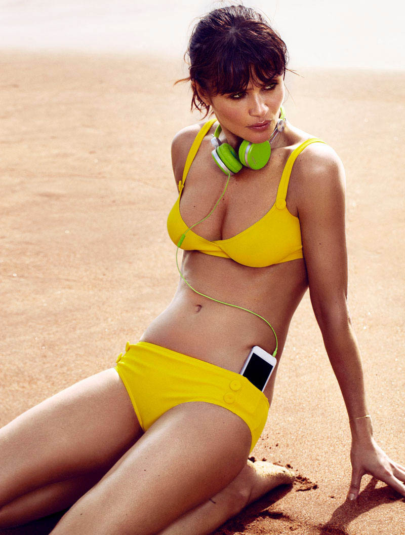 HELENA CHRISTENSEN by Xavi Gordo 17 Helena Christensen Sizzles for Xavi Gordo in Elle Spains May 2013 Cover Shoot