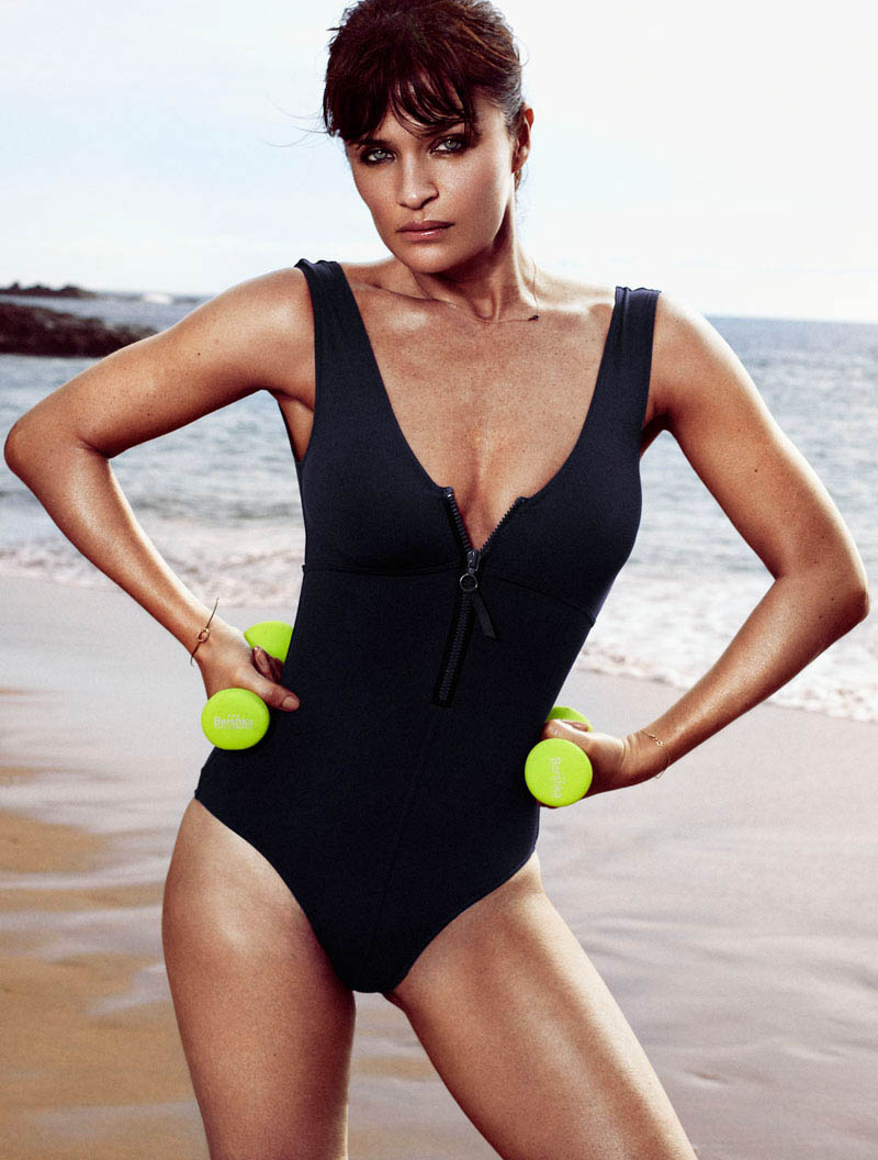 HELENA CHRISTENSEN by Xavi Gordo 21 Helena Christensen Sizzles for Xavi Gordo in Elle Spains May 2013 Cover Shoot