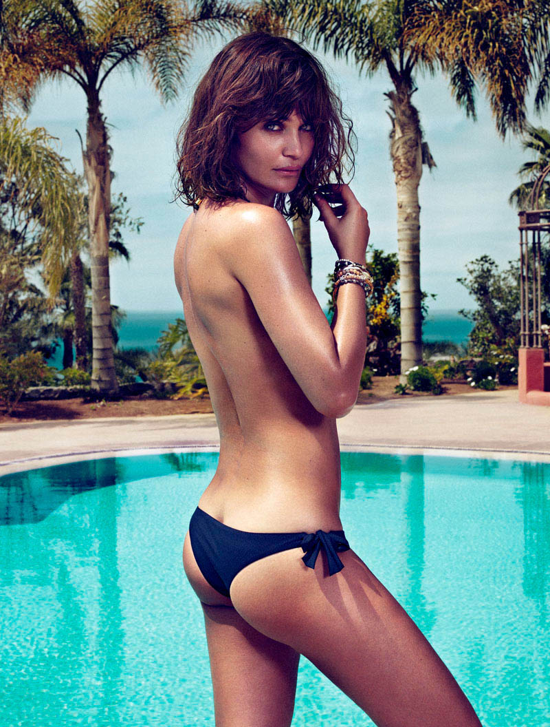 HELENA CHRISTENSEN by Xavi Gordo 23 Helena Christensen Sizzles for Xavi Gordo in Elle Spains May 2013 Cover Shoot