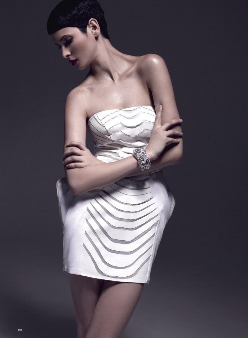 Hanaa Ben Abdesslem is Divine in Harper's Bazaar Turkey's April 2013 Cover Shoot